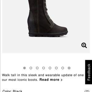 Sorel Joan of arctic kneehigh black wedge boots